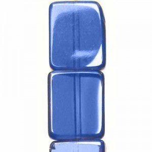 12x10mm Sapphire Rectangle Table Cut with Bronze - 7 Inch Strand (Apx 14 Beads)