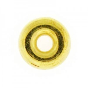 14mm Smooth Ring Bright Gilt