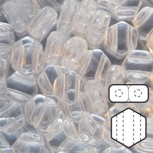 Hexx™ 6mm Czech Glass 2-Hole Hexagon Crystal