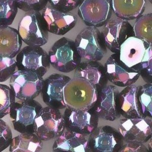 Preciosa® Hill™ 8mm Fire Polished Bead Purple Iris - 50pc