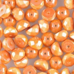 Preciosa® Hill™ 6mm Fire Polished Bead Chalk Apricot - 100pc