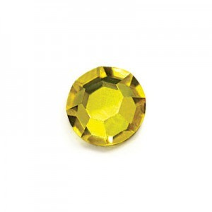 16ss Citrine Czech MC Flat Back Hot Fix Roses 36pcs X 4pk