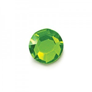 12ss Peridot Czech MC Flat Back Hot Fix Roses 36pcs X 4pk