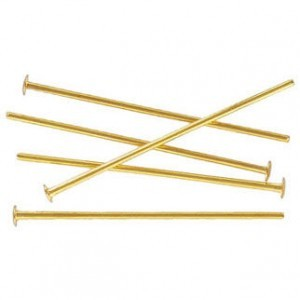 1 Inch Headpin 0.70mm Gold Plate (500pc)