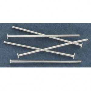 1 Inch Headpin 0.70mm Silver Plate Lacquered (500pc)