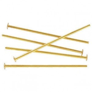 2 Inch Headpin 0.70mm Gold Plate (500pc)