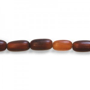 12x6mm Amber Rice Horn Beads 16 Inch Strand (Approx. 33 Beads)