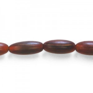 20x9mm Amber Oval Horn Beads 16 Inch Strand (Approx. 20 Beads)