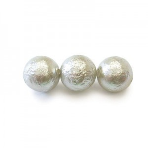12mm Round Light Silver Ice Czech Glass Pearls (150pc)