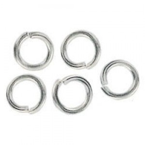 5mm Jump Ring 0.8mm Wire Silver Plate Lacquered (1000pc)