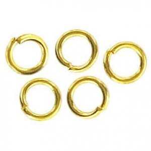 15.5mm Rd Jump Ring 1mm Wire Gold Color (Pkg of 100)