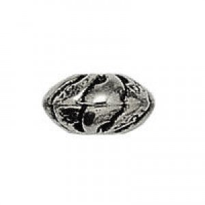 6x11mm Large Hole Sliced Rondelle Antique Silver