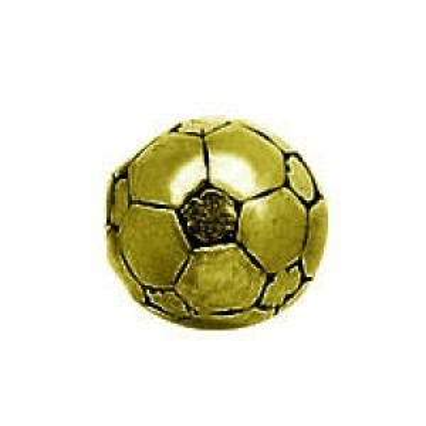 12mm Large Hole Soccer Ball Antique Gilt
