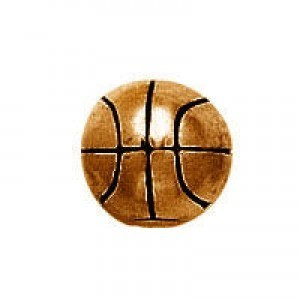 12mm Large Hole Basketball Antique Copper