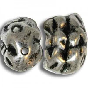 24x18mm Nugget Bead Antique Silver