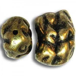 28x21mm Nugget Bead Antique Gilt