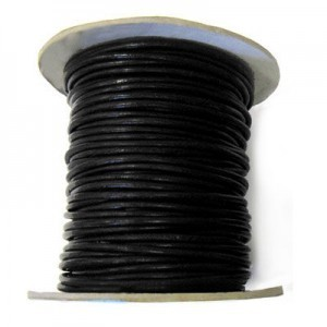 2mm Black Indian Leather Cord 25m(82ft) Spool