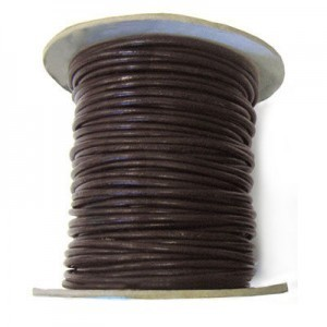 2mm Brown Indian Leather Cord 25m(82ft) Spool