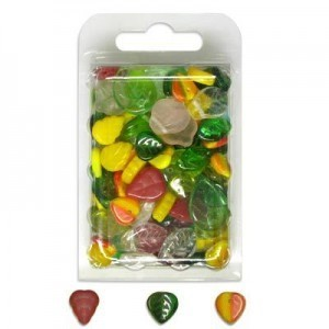 Czech Glass Beads Mix 92-Mix111-Leafs - 60 Gram Blister