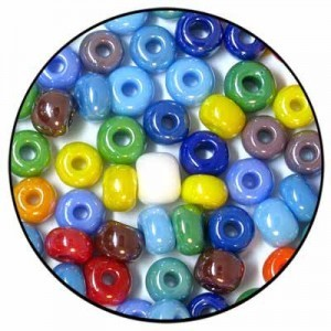 3/0 (Apx 5.5 Mm) Loose Czech Seed Beads Opaque Lustered Mix - 50 Gram Bag