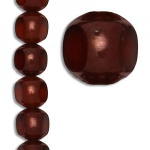 10mm Topaz Coated Fp Czech Glass Beads - 7 Inch Strand (Apx 18 Beads)