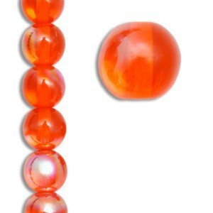 8mm Czech Glass Beads Color 90020/28701 - 7 Inch Strand (Apx 22 Beads)