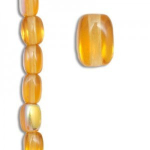 6x4mm Czech Glass Beads Color 10060/28701 - 7 Inch Strand (Apx 29 Beads)