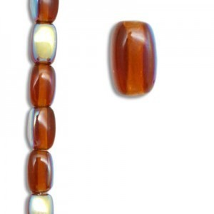 6x4mm Czech Glass Beads Color 10110/28701 - 7 Inch Strand (Apx 29 Beads)