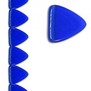 17mm Triangle Sapphire Apx 7 Inch Strand / 11 Beads