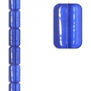 19x12mm Chicklet Lt Sapphire Apx 7 Inch Strand / 10 Beads