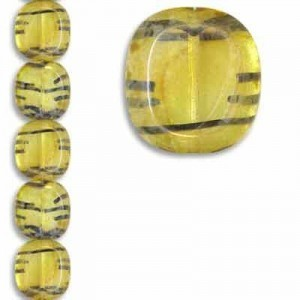 17x16mm Cushion Cut Color# 08996/43400c - 7 Inch Strand (Apx 10 Beads)