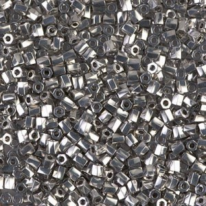 10/0 Cut Twisted Palladium Plated 50 Grams Miyuki® Beads (Rough Estimate 3600 Pcs)