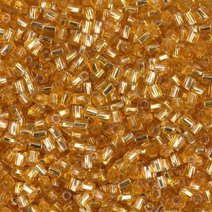 10/0 Cut Twisted S/L Dark Gold 250 Grams Miyuki® Beads (Rough Estimate 18000 Pcs)
