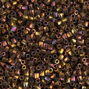 10/0 Cut Twisted Metallic Gold Iris 100 Grams Miyuki® Beads (Rough Estimate 7200 Pcs)