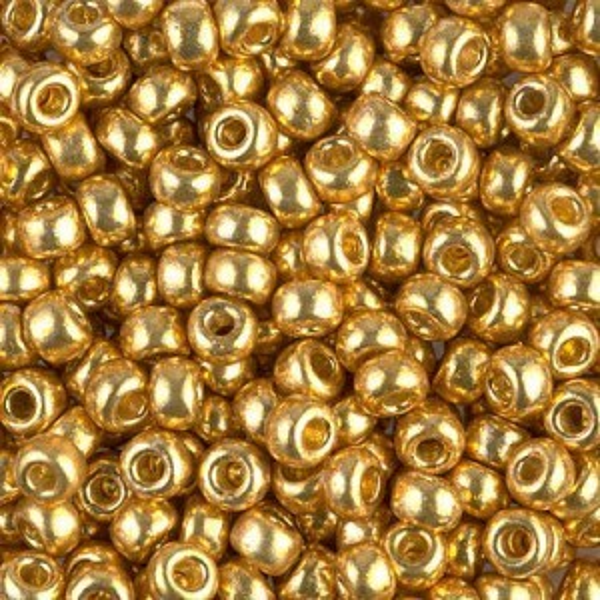 6/0 Duracoat Galvanized Gold Miyuki® Seed Bead 250 Grams Miyuki® Beads (Rough Estimate 3000 Pcs)
