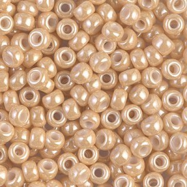 6/0 Lt Caramel Ceylon 250 Grams Miyuki® Beads (Rough Estimate 3000 Pcs)