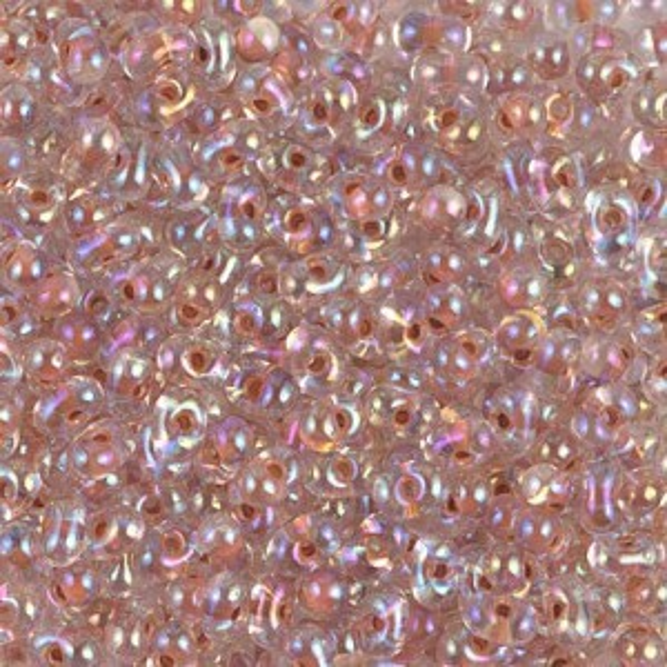 Dk Peach Lined Crystal AB Miyuki® Berry Bead 250 Grams