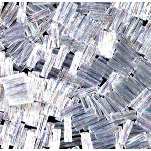 2.0x6mm Twisted Bugle Crystal AB 250 Grams Miyuki® Beads (Rough Estimate 7800 Pcs)