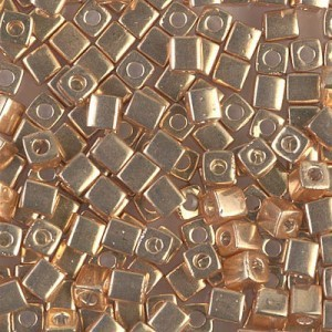 4x4mm Cube Galv Gold 250 Grams Miyuki® Beads (Rough Estimate 2600 Pcs)