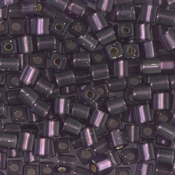 4x4mm Cube Matte S/L Amethyst 250 Grams Miyuki® Beads (Rough Estimate 2600 Pcs)