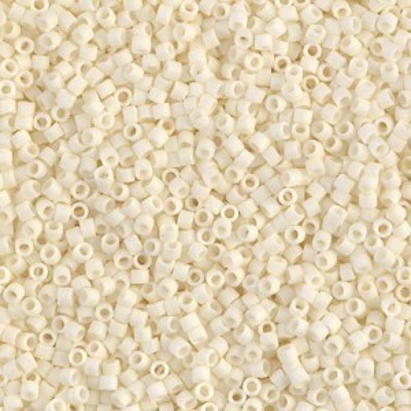 Delica 11/0 Matte Opaque Cream (D) 100 Grams Miyuki® Beads (Rough Estimate 20000 Pcs)