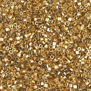 Delica 11/0 24kt Gold Plated Cut 50 Grams Miyuki® Beads (Rough Estimate 11400 Pcs)