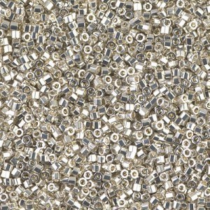 Delica 11/0 Galvanized Silver Cut (G) 100 Grams Miyuki® Beads (Rough Estimate 22800 Pcs)