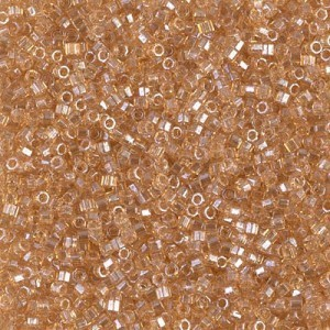 Delica 11/0 Lt Smoky Topaz Gold Luster Cut (A) 100 Grams Miyuki® Beads (Rough Estimate 22800 Pcs)