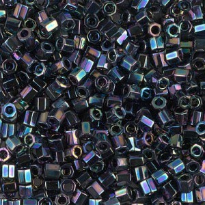 Delica Metallic Variegated Blue Iris Cut 8/0 (A) 100 Grams Miyuki® Beads (Rough Estimate 3600 Pcs)