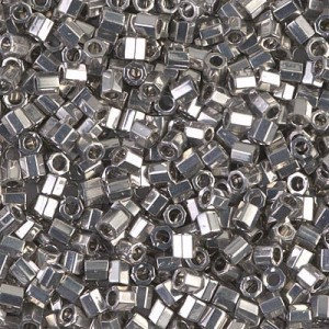 Delica Palladium Plated Cut 8/0 50 Grams Miyuki® Beads (Rough Estimate 1800 Pcs)