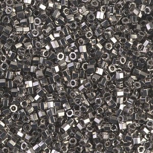 Delica Nickel Plated Cut 10/0 100 Grams Miyuki® Beads (Rough Estimate 11000 Pcs)
