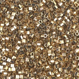 Delica 24kt Gold Light Plated Cut 10/0 50 Grams Miyuki® Beads (Rough Estimate 5500 Pcs)