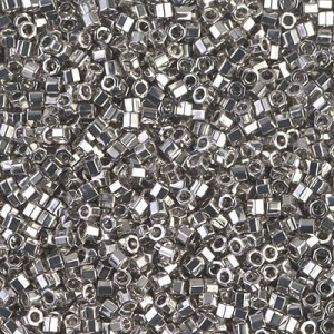Delica Palladium Plated Cut 10/0 50 Grams Miyuki® Beads (Rough Estimate 5500 Pcs)