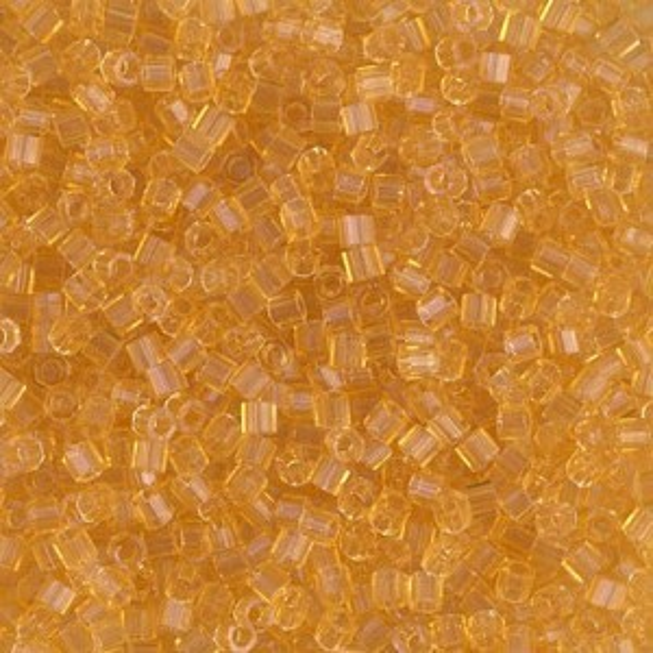 Delica Transp Lt Topaz Cut 10/0 100 Grams Miyuki® Beads (Rough Estimate 11000 Pcs)